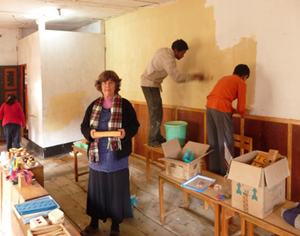 Painting the classroom