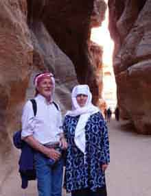 Susan and Jim at Petra