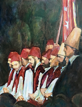 Turkish Sufi Singers painting