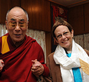 Adele Diamond and the Dalai Lama