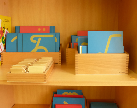 Montessori sandpaper letters in Russian
