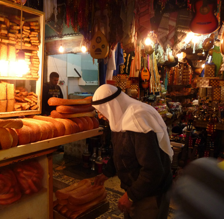 Bread in Jerusalem market