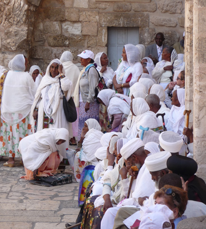 Ethiopians and others worshiping